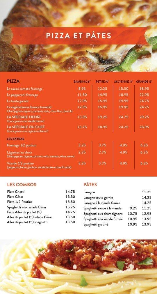 Restaurant chez Henri - Menu livraison - Page 5