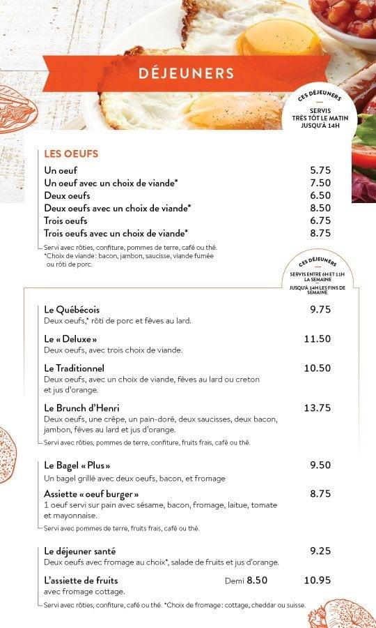 Restaurant chez Henri - Menu salle à manger - Page 2