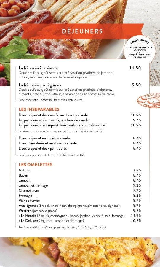 Restaurant chez Henri - Menu salle à manger - Page 3