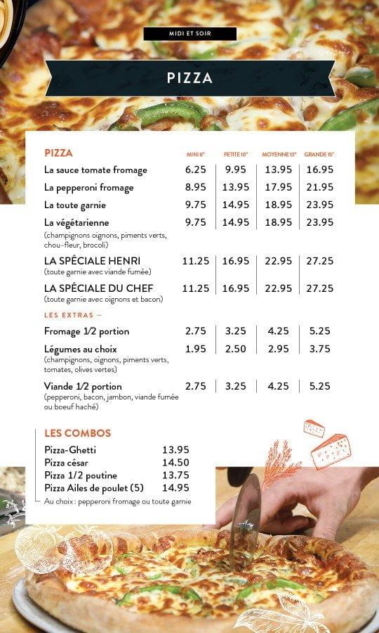 Restaurant chez Henri - Menu salle à manger - Page 9
