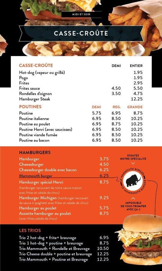 Restaurant chez Henri - Menu salle à manger - Page 11